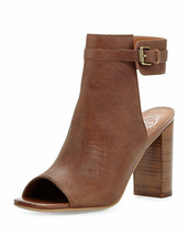 Jeffrey Campbell Canal Leather Peep-Toe Bootie, Tan Size 6 - $34.64