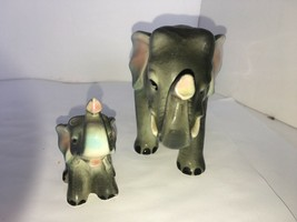 Vintage Elvin Mother Elephant With Baby - $12.50