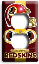 WASHINGTON REDSKINS FOOTBALL DUPLEX OUTLET WALL PLATE COVER BOYS BEDROOM... - $7.99