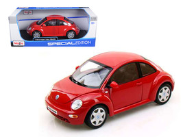 Volkswagen New Beetle Red 1/18 Diecast Model Car by Maisto - $39.99