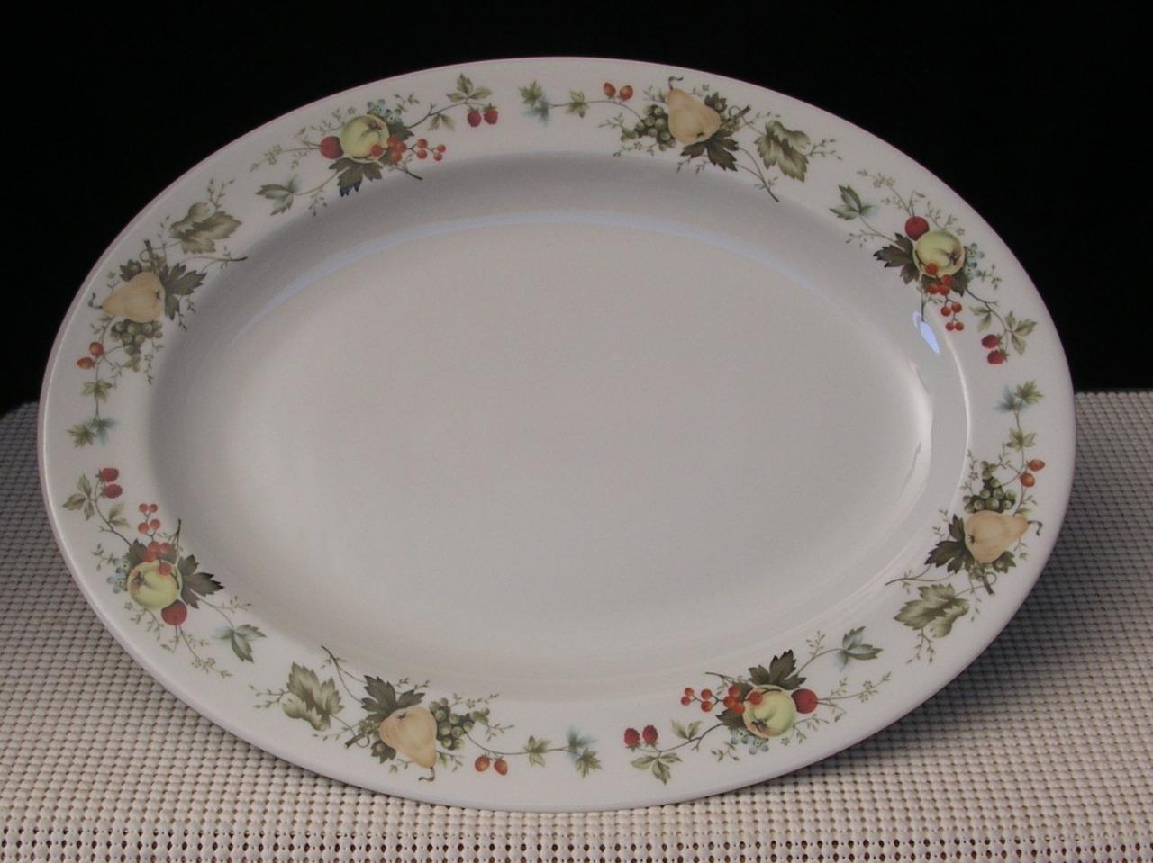 "Primary image for ""MIRAMONT"" TC1022 Royal Doulton 13"" OVAL SERVING PLATTER Translucent Fruit China"