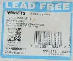Watts Balancing Valve Ballvalve design 0856811 LFCSM 61 M1 S image 7