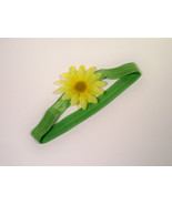 Pale Green Foldover Elastic Headband. Soft Elastic Baby Spring Flower He... - $6.00