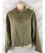 Ralph Lauren Sport Lightweight Full Zip Hooded Green Jacket Size Large - $24.46