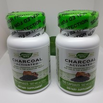 Nature's Way Charcoal Activated 560 Mg 100 Capsules EXP 2/24 - $19.80
