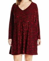 2X Women's Plus Jessica Simpson Vera Dress Fit & Flare Biking Red NEW - $36.16