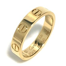 Cartier Mini Love Ring US3.5-4 K18 Gold Used Excellent condition From Japan - $708.97
