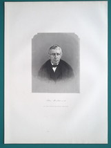 PETER HITCHCOCK Ohio Chief Justice - 1883 Antique Portrait Print - $17.96