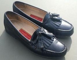 Mens COLE HAAN Loafers Kiltie Tassel Black Leather 03251 Dress Shoes 9.5 B - $61.75