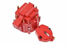 A-Team Performance CR6R HEI OEM Distributor Cap, Rotor and, Coil Cover Kit Red 6