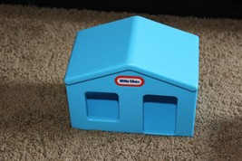 Rare HTF Little Tikes Chunky People Blue Doll House for Yellow car track - $13.99