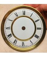 """Vintage Round  Brass Clock Dial 4 3/4"""" - $9.89"""