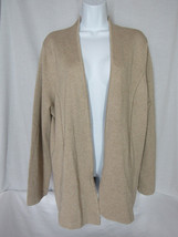NWT Talbot's Open Front Beige Cardigan Sweater Cotton Rayon Blend sixe XL - $39.99