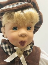 Porcelain Boy Doll HUBAO VintageTongue Sticking Out -Brown Knickers - S... - $26.24