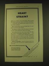 1933 Kellogg's Kaffee-Hag Coffee Ad - Heart Strain? - $14.99
