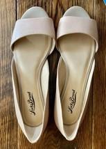 Lucky Brand Tan Leather Womens Cutout Flats Sz 7 1/2 - $9.85
