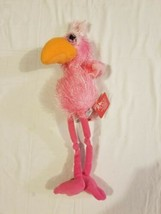 Russ Berrie Pink Flamingo With Tags Plush Stuffed Animal 16 inch  - $14.69