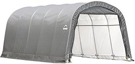 ShelterLogic Garage-in-a-Box Rountop, Grey, 12 x 20 x 8 ft. - $678.95
