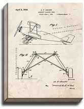 Aircraft Landing Gear Patent Print Old Look on Canvas - $39.95+