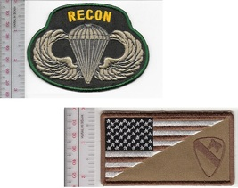 3 Recon US Army 1st Air Cavalry & US Army Recon Parachutist Airborne Wings Patch - $18.99