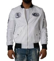 $175 AMERICAN STITCH Patches Flight Jacket, White, Size S - $89.09