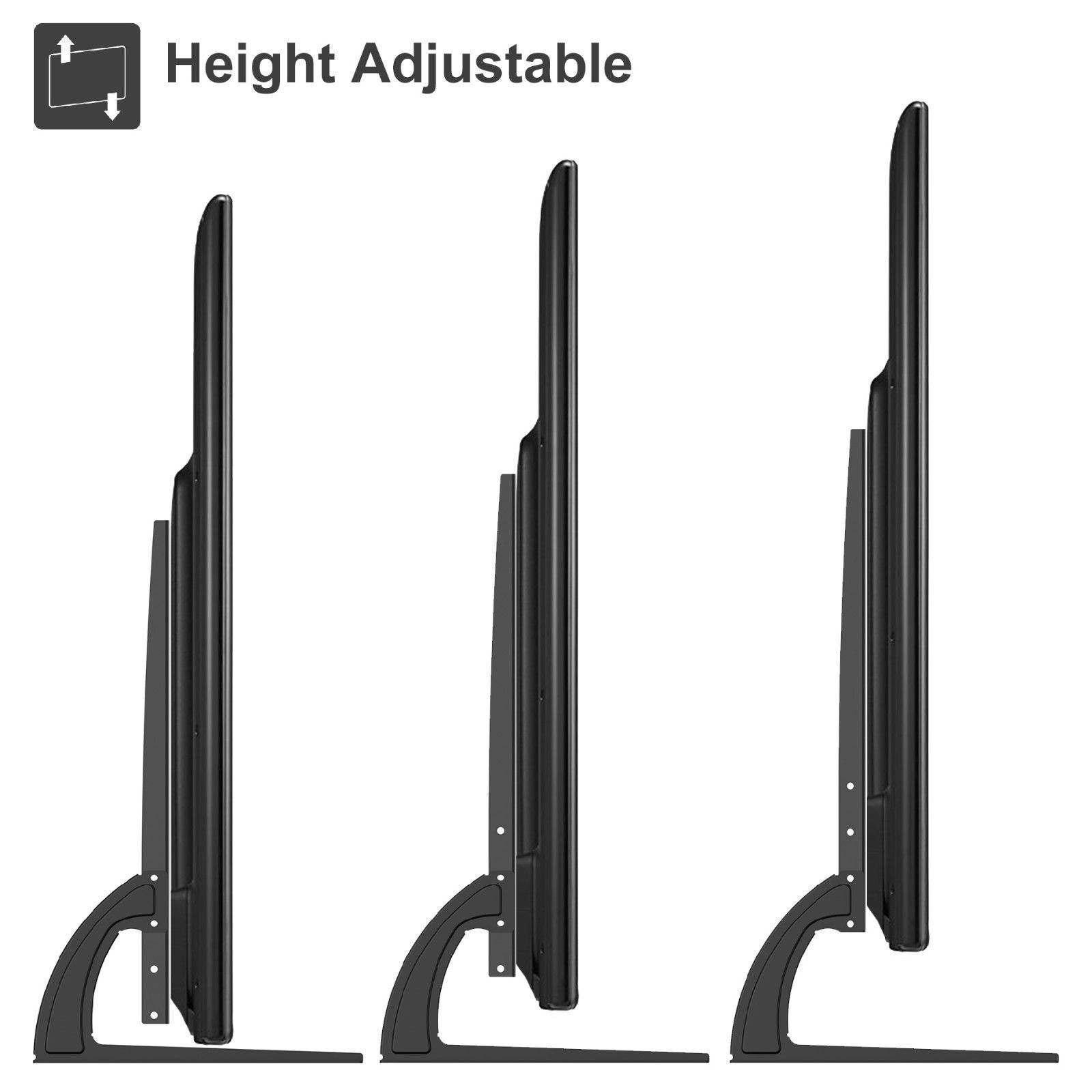 Universal Table Top TV Stand Legs for Vizio E551d-A0 Height Adjustable