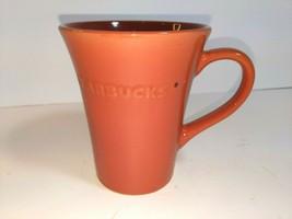 Starbucks Dark Burnt Orange Coffee Tea Mug 21.1 Fl.Oz. 2011 Flared Top EUC - $17.76