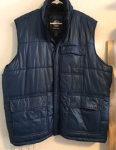 TIMBERLAND VEST PUFFER MEN'S SZ XXL ZIP DOWN BUTTON FRONT JACKET 100% PO... - $56.95