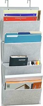 4 Pockets - Wall Mount/Over Door Office Supplies File Document Organizer... - $15.27