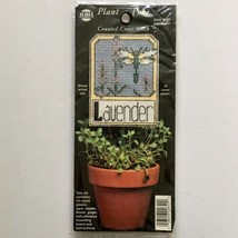 Lavender Plant Stake Label Cross Stitch Plastic Canvas Kit NMI 2640 Herb... - $3.47