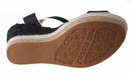 Not Rated Women's Black White Sand Summer Platform Wedge Sandals NIB image 7
