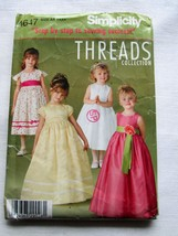 Simplicity Pattern 4647 Girl's Fancy Dresses Threads Collection Sz  3 4 ... - $9.79