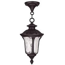 Livex Lighting 7849-07 Oxford 1-Light Outdoor Hanging Lantern, Bronze - $101.31