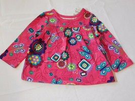 The Children's Place Baby Girl's Long Sleeve Shirt 6-9 Months Pink Butterflies - $24.74