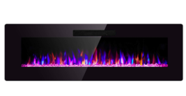 """36"""" Electric Fireplace Wall Recessed Wall Mounted Fireplace Heater Multi-Color  - $370.99"""