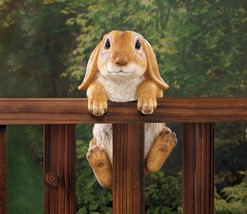 Climbing Golden Baby Bunny Buddy Hang on Fence, Wall or Flower Garden Fi... - $23.23