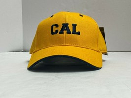 UC Berkeley Golden Bears Cal NCAA Adjustable Strap Back Hat Embroidered, Yellow - $17.99