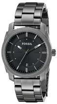 Fossil Machine Black Dial Smoke Ip Stainless Steel Fs4774 Men's Watch - $132.00