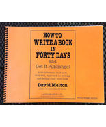 how to write a book in forty days - spiral bound - $25.00