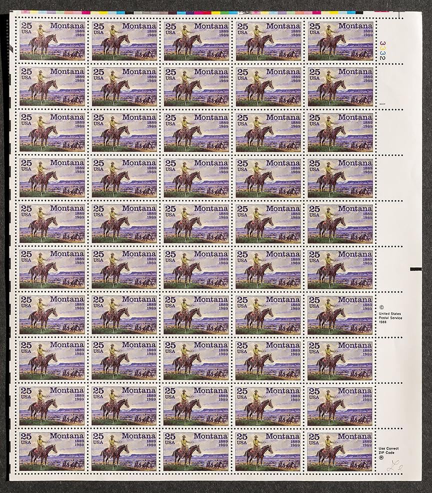 Montana 25 stamps