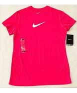 New Nike Dri Fit Girls XL Hot Pink Short Sleeve Running Tee T Shirt - $29.65