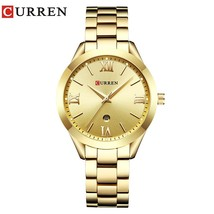 CURREN Fashion Casual Ladies Wrist Watch Stainless Steel Dress Women Watches Cal - $38.38