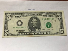United States $5.00 banknote uncirculated 1995 #3 - $13.95