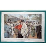 BAD WILDUNGEN Spas Fashion High Society - VICTORIAN Era Color Print 14.5... - $20.16