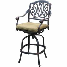 Outdoor propane fire pit table Elisabeth bar stools cast aluminum furniture image 10