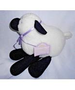 Hallmark Lambsie Divy Lamb Plush Stuffed Animal White Black Sheep Purple... - $10.77