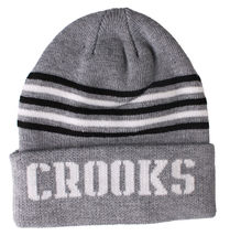 Crooks and Castles Mens Core Striped Knit Beanie NWT image 4