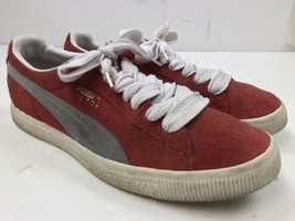 Puma Stamped Clyde Red Gray Suede Men's Shoe Size 11 - $40.00