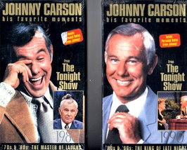 Jonny Carson - His Favorite Moments - 2 VHS Tapes - $7.00