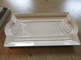 """LENOX CHINA FORUM RECTANGLE SERVING TRAY HORS D'OEUVRE 13-3/8"""" W/TAG USA - $24.70"""